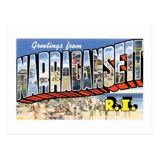 Narragansett、ロードアイランドからの挨拶! レトロ ポストカード