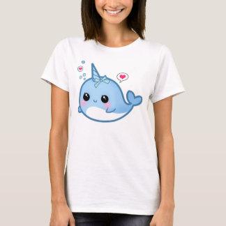 narwhalかわいいかわいいのベビー tシャツ