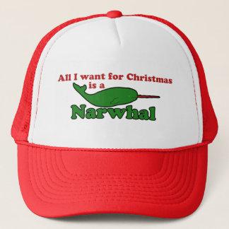 Narwhalのおもしろいなクリスマス キャップ