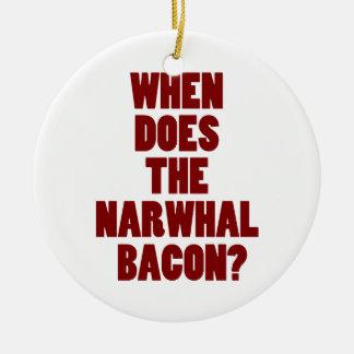 NarwhalのベーコンのRedditの質問をする時 セラミックオーナメント