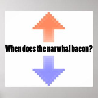 NarwhalのベーコンのUpvote Redditの質問をする時 ポスター