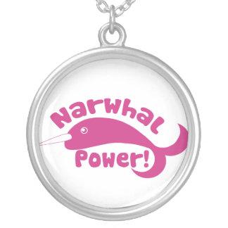 Narwhal力 シルバープレートネックレス