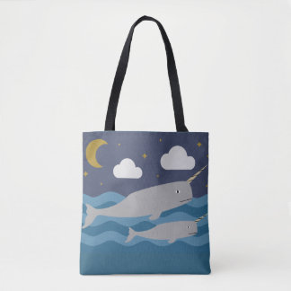 Narwhal夜水泳 トートバッグ