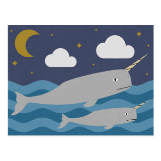 Narwhal夜水泳 ポストカード