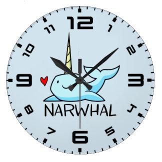 Narwhal ラージ壁時計