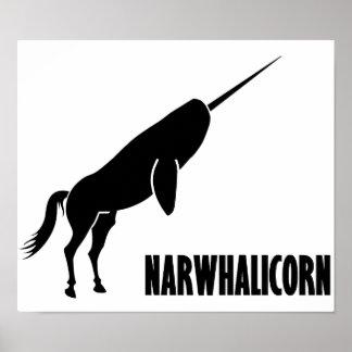 Narwhalicorn Narwhalのユニコーン ポスター