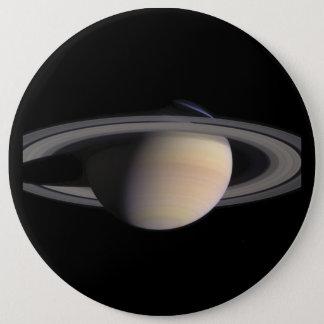 NASAからの土星のすばらしい写真 15.2CM 丸型バッジ
