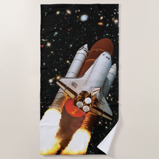 NASAのアトランティスの進水STS-45 ビーチタオル
