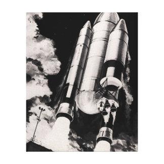 NASAのスペースシャトルの進水車の芸術家の概念 キャンバスプリント