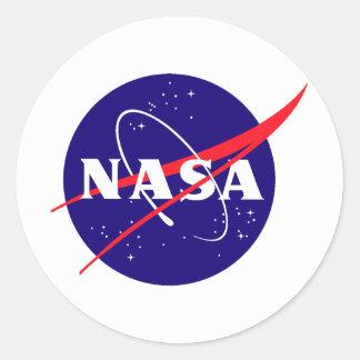NASAのミートボールのロゴ ラウンドシール