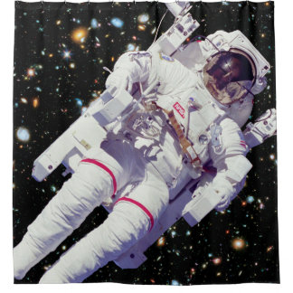 NASAの宇宙飛行士のJetpackの宇宙遊泳の地球の軌道の写真 シャワーカーテン