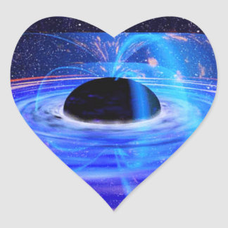NASAの暗藍色の穴 ハートシール