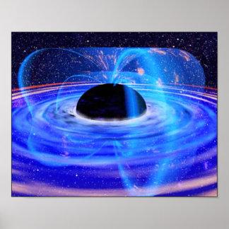 NASAの暗藍色の穴 ポスター