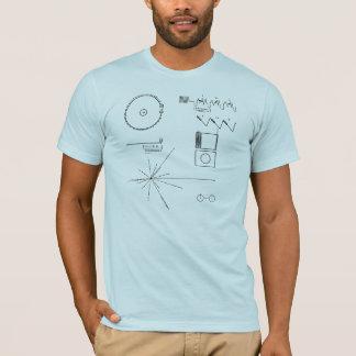NASAの航海者のゴールドレコード Tシャツ