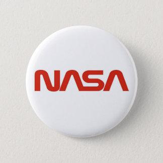 NASAの赤いみみずのロゴ 5.7CM 丸型バッジ