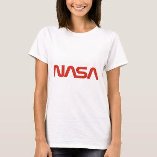 NASAの赤いヘビのロゴライト Tシャツ