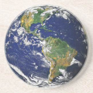 NASAの青い大理石の地球の砂岩コースター コースター