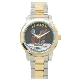 NASAアポロ11のロゴのゴールド・トーンの腕時計 腕時計