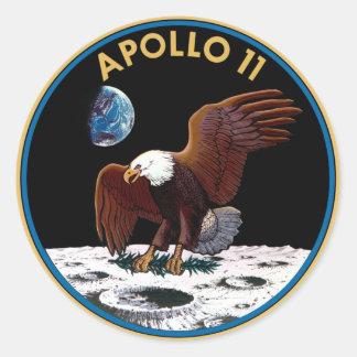 NASAアポロ11のロゴ ラウンドシール