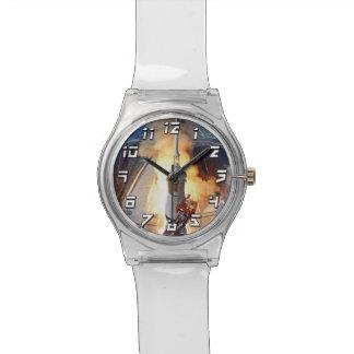 NASAアポロ11の月面着陸のロケットの進水 腕時計