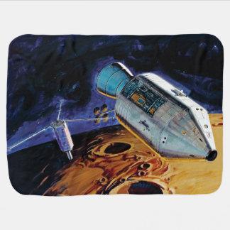 NASAアポロ15 Subsatellite月軌道アートワーク ベビー ブランケット