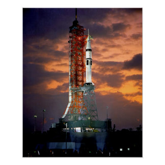 NASAアポロSoyuzの進水車の日の出の発射点 ポスター