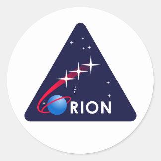 NASAオリオンのロゴ ラウンドシール