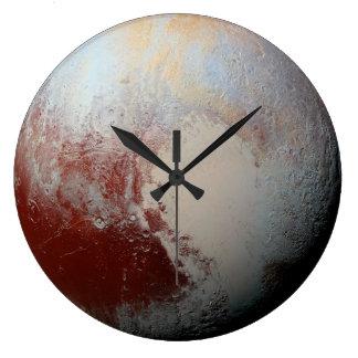 NASAニュー・ホライズンズの2015年の写真による小型惑星プルート ラージ壁時計