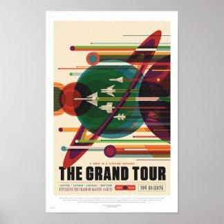 NASA -グランドツアー-レトロ旅行ポスター ポスター