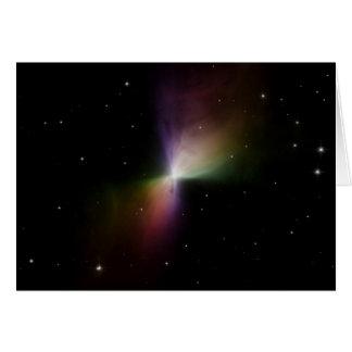 NASA -ブーメランの星雲からの分散させたライト カード