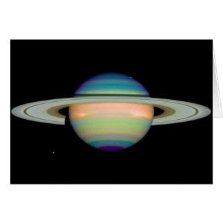 NASA -土星の赤外線眺め カード