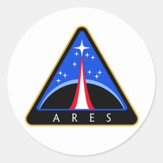 NASA Aresロケットのロゴ ラウンドシール
