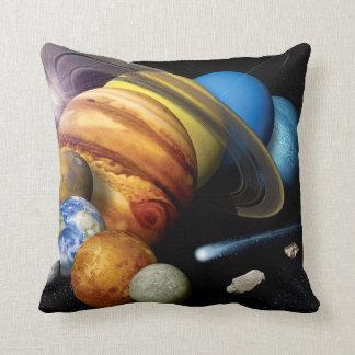 NASA JPLの太陽系の惑星のモンタージュの宇宙の写真 クッション