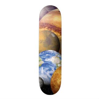 NASA JPLの太陽系の惑星のモンタージュの宇宙の写真 スケートボード