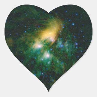 NASA Pleiades ハートシール