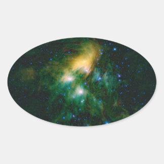 NASA Pleiades 楕円形シール