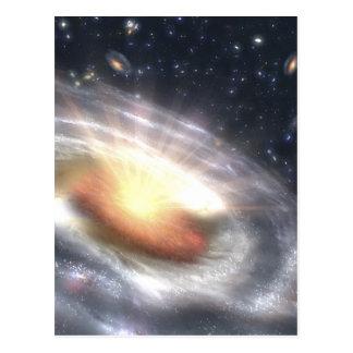 NASAsのクエーサーのブラックホール ポストカード