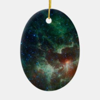 NASAsのハートおよび精神の星雲 セラミックオーナメント