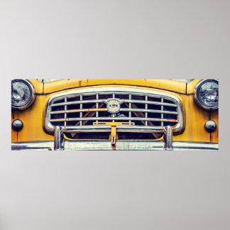 Nashの黄色いブラブラ歩く人 ポスター