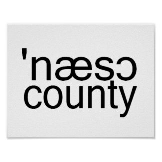 Nassau Countyのロングアイランドの音声スペリング ポスター