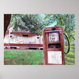 Natchitochesの古い市場 ポスター