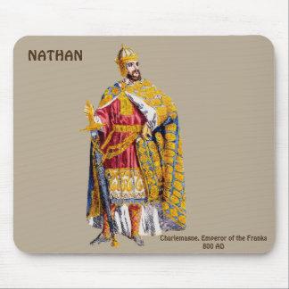 NATHANの~のために名前入りな皇帝のカール大帝の~ マウスパッド