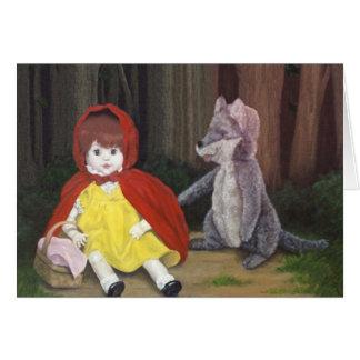 "Nathanジェームス著""赤い乗馬フードの人形""カード カード"
