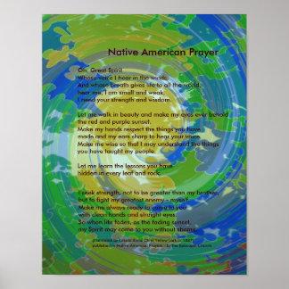 Native American Prayer ポスター
