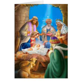 Nativity of Jesus x-mas image for christmas cards カード