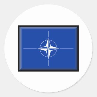 NATOの旗 ラウンドシール