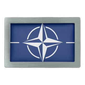 NATOの旗 長方形ベルトバックル