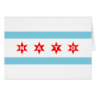 NATOシカゴの旗 カード