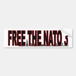 NATO 3のバンパーステッカーを解放して下さい バンパーステッカー