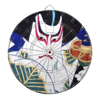 Natori Shunsenの名取春仙による日本人のKabuki俳優の芸術 ダーツボード